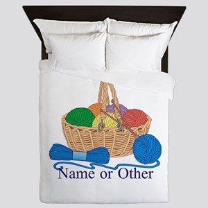 Personalized Knitting Queen Duvet