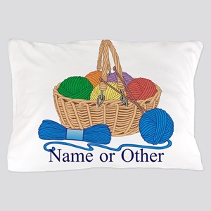 Personalized Knitting Pillow Case