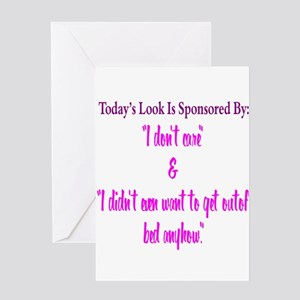 Todays Look Greeting Cards