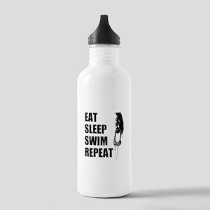 Eat Sleep Swim Repeat Stainless Water Bottle 1.0l
