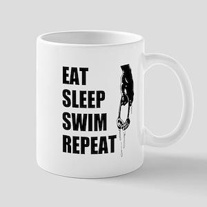 Eat Sleep Swim Repeat Mugs For Swimmers