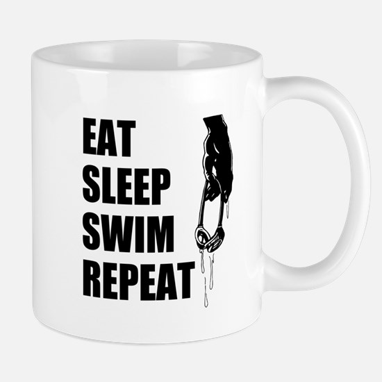 Eat Sleep Swim Repeat Mugs For Swimmers