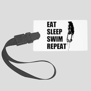 Eat Sleep Swim Repeat Luggage Tag