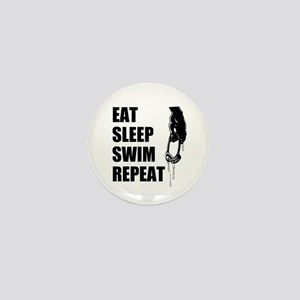 Eat Sleep Swim Repeat Mini Button