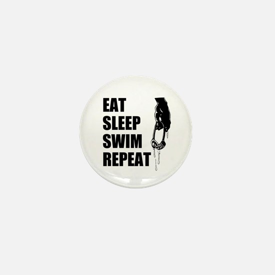 Eat Sleep Swim Repeat Mini Button