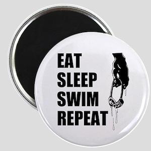 Eat Sleep Swim Repeat Magnets
