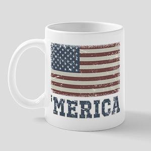 'Merica Flag Vintage Mug
