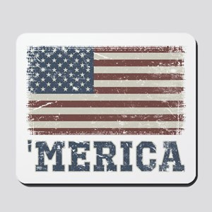 'Merica Flag Vintage Mousepad