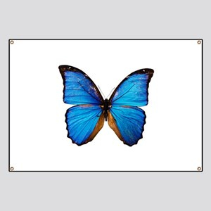 Animals Blue Butterfly Banner