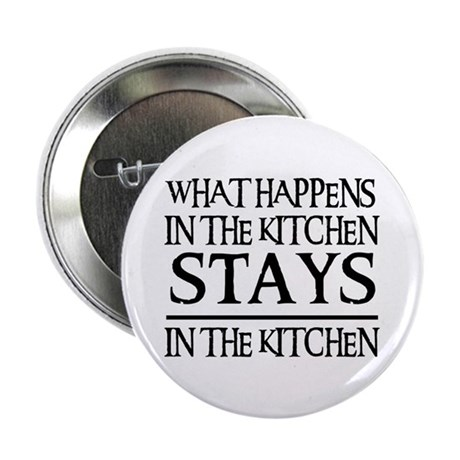 "STAYS IN THE KITCHEN 2.25"" Button (100 pack)"
