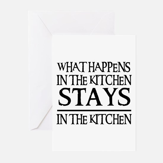 STAYS IN THE KITCHEN Greeting Cards (Pk of 10)