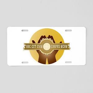 Corpus Meum Aluminum License Plate