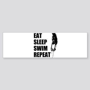 Eat Sleep Swim Repeat Bumper Sticker