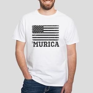 'Murica White T-Shirt