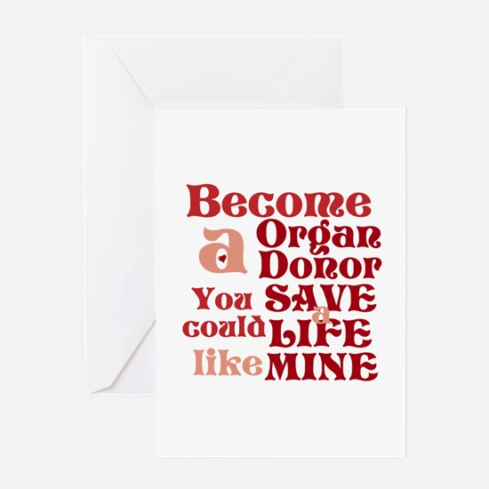 Become A Organ Donor Greeting Card