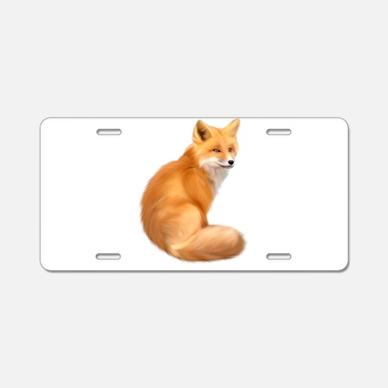 animals fox Aluminum License Plate