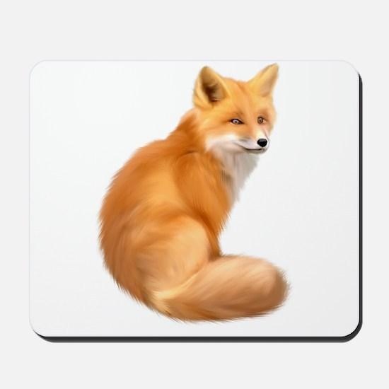 animals fox Mousepad