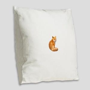 animals fox Burlap Throw Pillow
