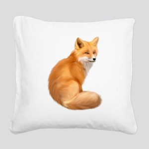 animals fox Square Canvas Pillow