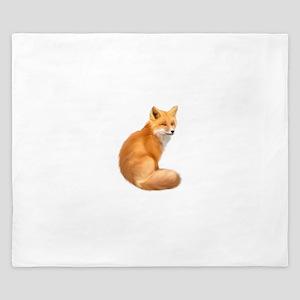 animals fox King Duvet