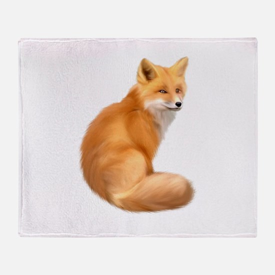 animals fox Throw Blanket