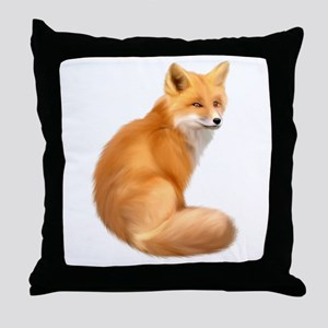 animals fox Throw Pillow