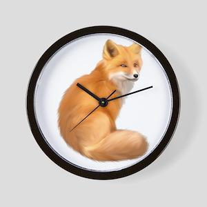 animals fox Wall Clock