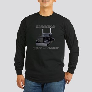 Running Low & Hard Long Sleeve Dark T-Shirt
