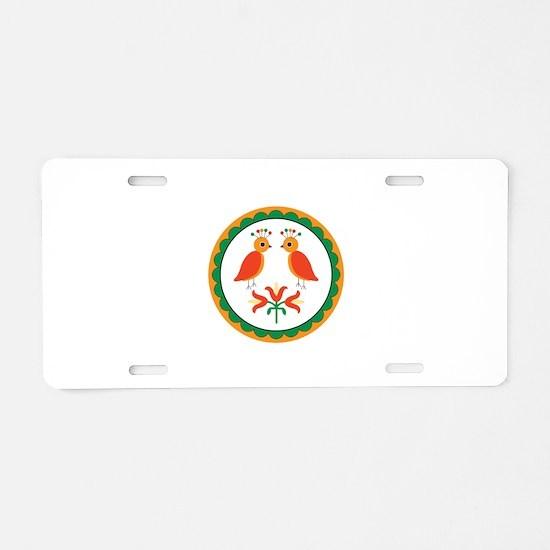 Double Distlefink Aluminum License Plate