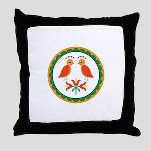 Double Distlefink Throw Pillow