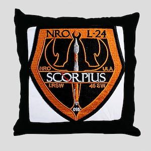 NROL-24 Launch Logo Throw Pillow