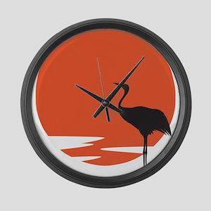 Crane bird Large Wall Clock