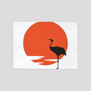Crane bird 5'x7'Area Rug