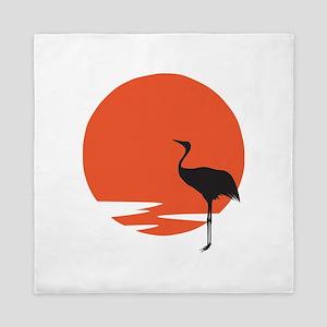 Crane bird Queen Duvet
