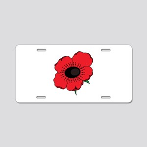 Poppy Flower Aluminum License Plate