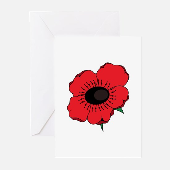 Poppy Flower Greeting Cards
