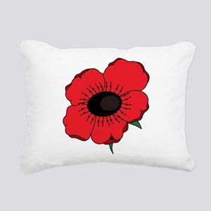 Poppy Flower Rectangular Canvas Pillow