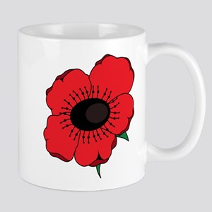 Poppy Flower Mugs