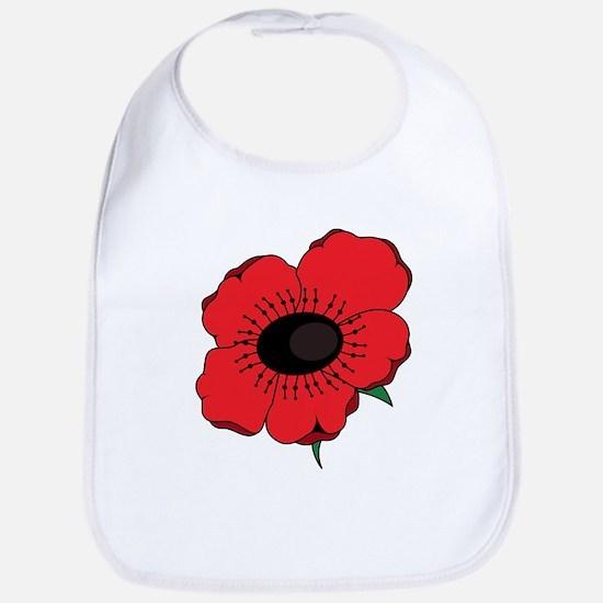 Poppy Flower Bib