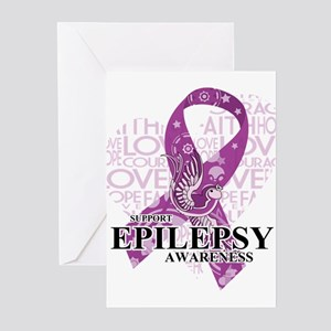 Epilepsy Love Hope Bird Greeting Cards (Pk of 20)