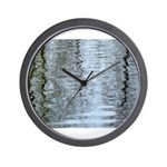 Reflections on the ice Wall Clock
