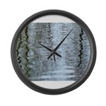Reflections on the ice Large Wall Clock
