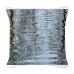 Reflections on the ice Woven Throw Pillow