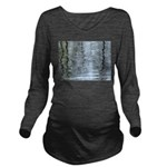 Reflections on the ice Long Sleeve Maternity T-Shi