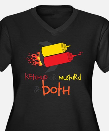 Ketchup Or Mustard or both Plus Size T-Shirt