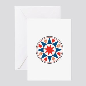 Eight Pointed Star Greeting Cards