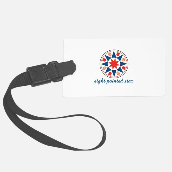 Eight Pointed Star Luggage Tag