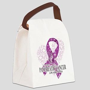 Pancreatic Love Hope Bird Canvas Lunch Bag
