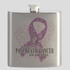 Pancreatic Love Hope Bird Flask