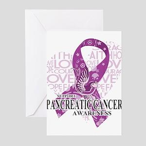 Pancreatic Love Hope Bir Greeting Cards (Pk of 20)